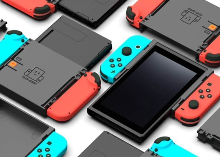 Play retro Nintendo Switch games vertically with the Flip Grip