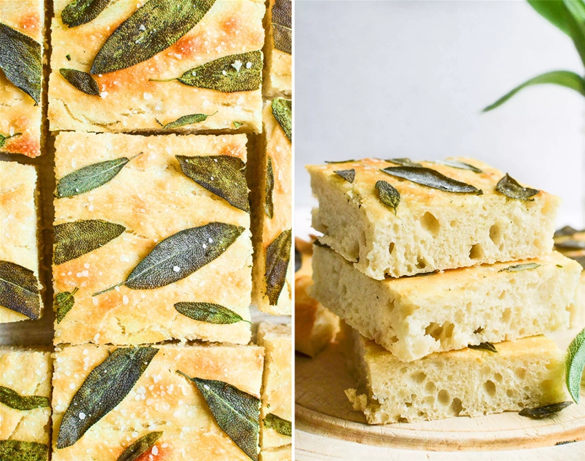 chewy sage focaccia