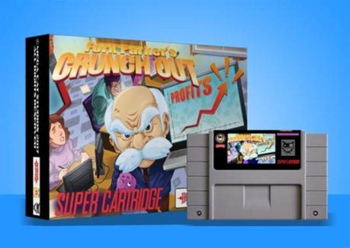 Fork Parker's Crunch Out is a legit new SNES cartridge game… in 2018