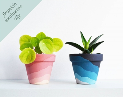 frankie exclusive diy: gradient planter pots