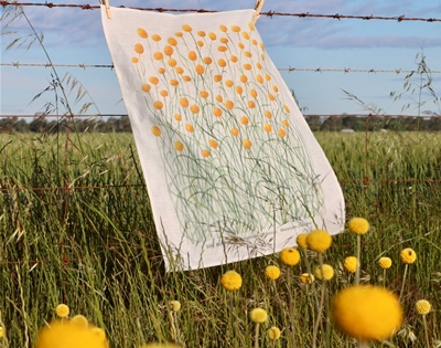 meander makes lovely botanical tea towels