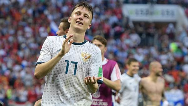 Golovin hails Russia history-makers as Chelsea rumours intensify
