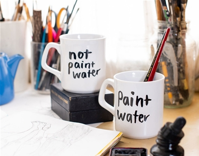 painters, rejoice! hallie bateman makes mugs especially for you