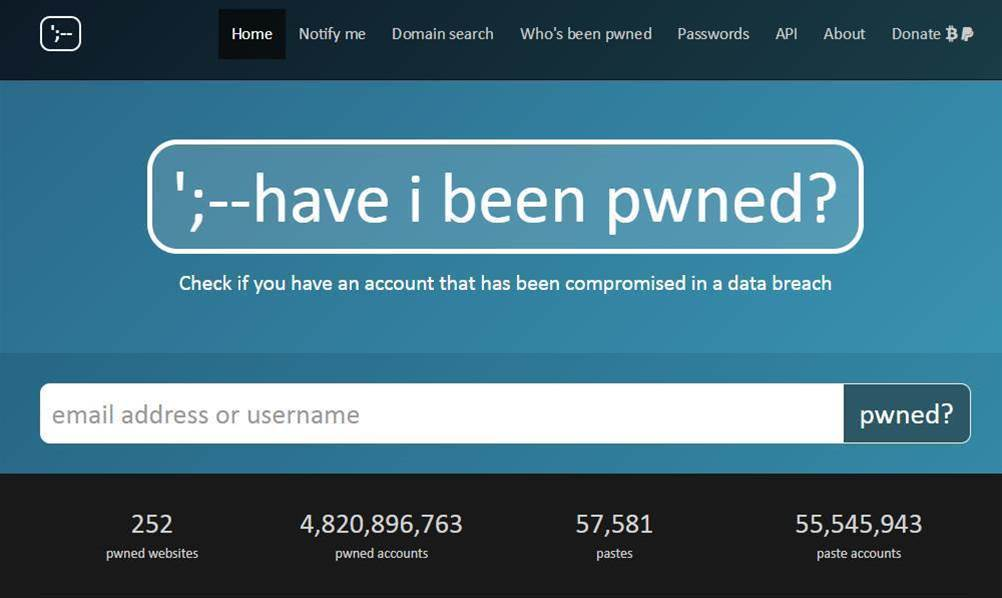 Firefox will tell you if your data has been breached