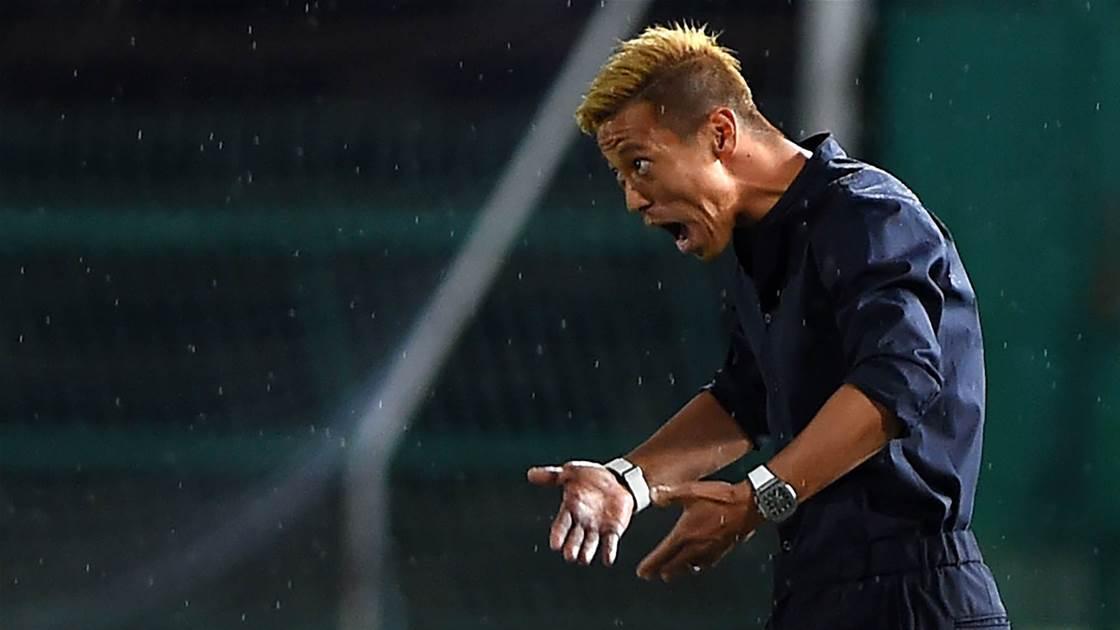 Honda's first game as Cambodian coach