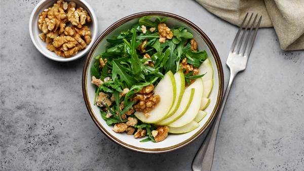 Pear and Spiced Walnut Salad