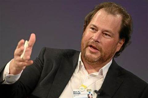 Salesforce CEO says it's 'about to pass SAP'