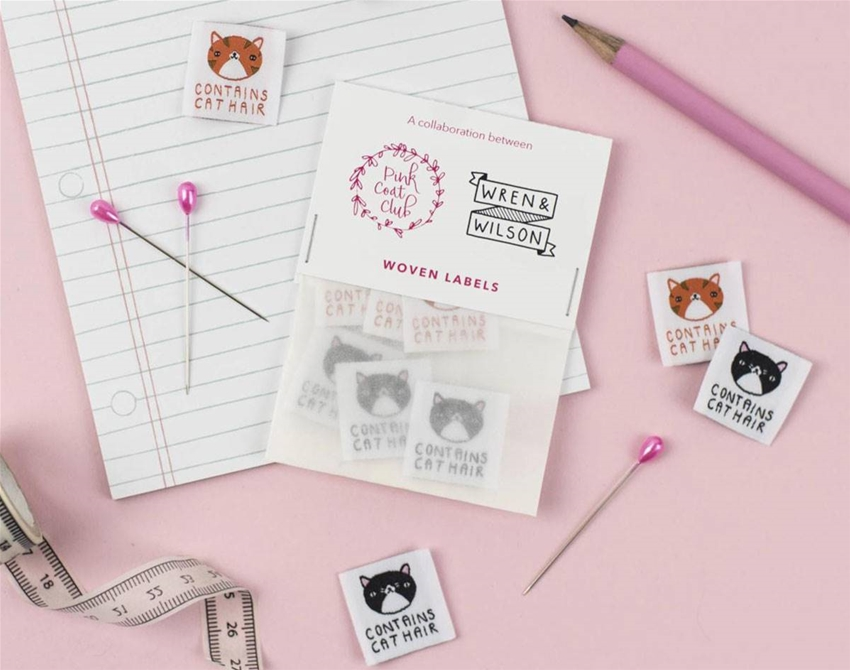 moggie labels for your next sewing project