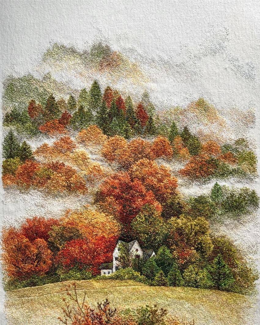 katrin vates's earthy embroidery