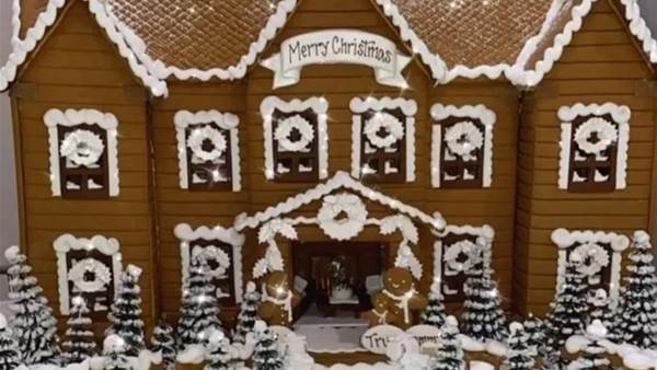 Celebrities share amazing gingerbread house photos