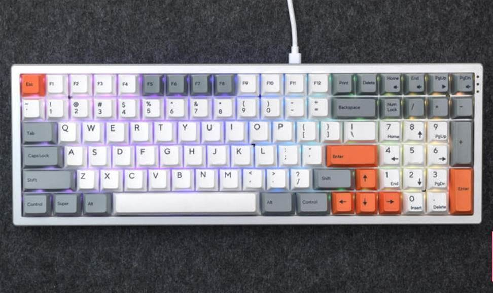 Kira is a classic-feel mechanical keyboard 'arted up' with trippy RGB backlighting