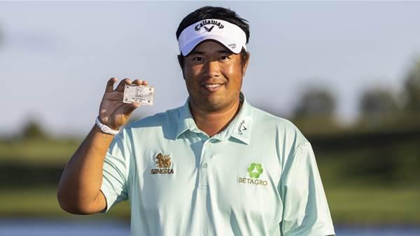 Aphibarnrat overcomes 'bad golf' to reclaim PGA Tour card