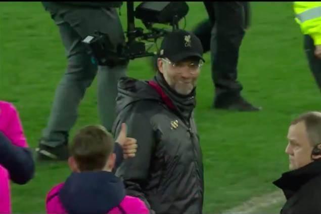 Watch! Jurgen Klopp confronts cheeky Everton ballboy