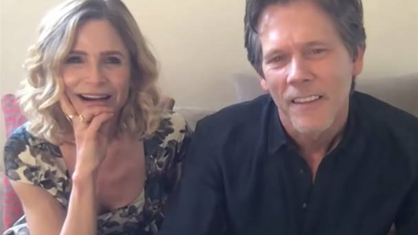 Kevin Bacon gave his wife a quarantine bikini wax