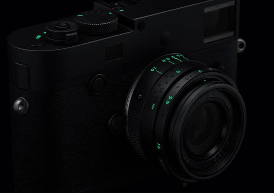 Leica's all black M Monochrom 'Stealth Edition' camera glows in the dark