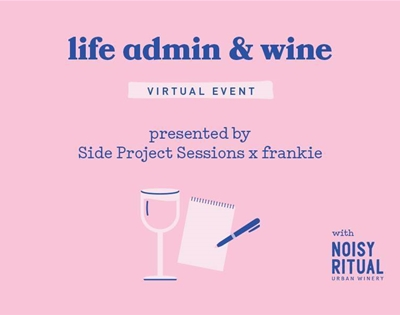 join our life admin night with side project sessions