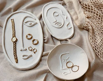 diy clay face plates