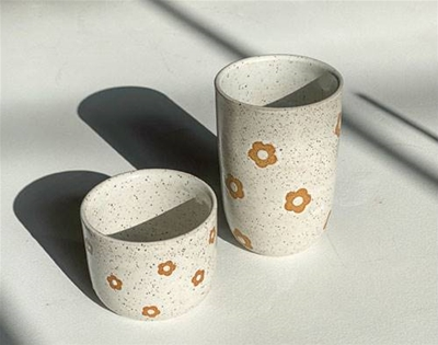 daisy cups from mimi ceramics