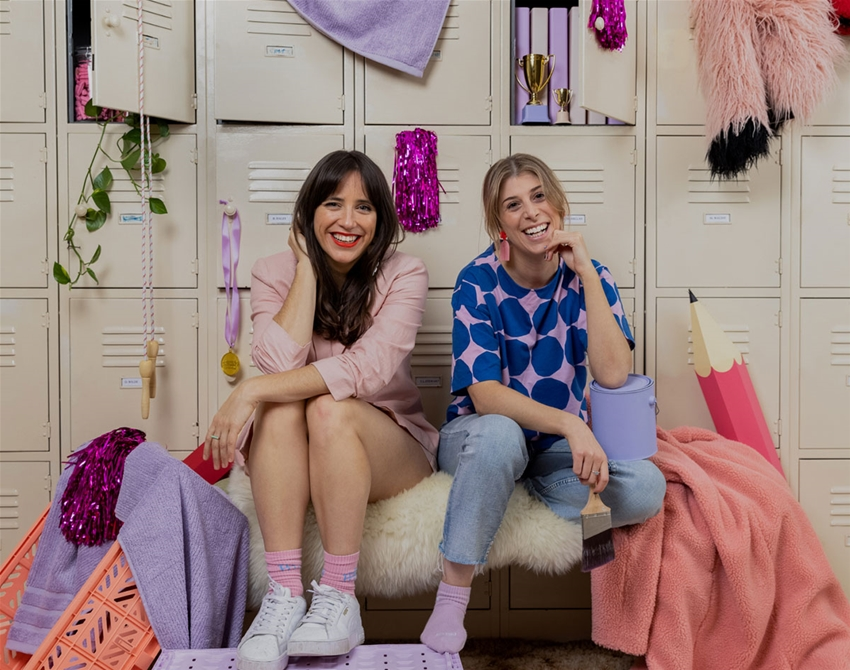 a chinwag with artists kate pullen and louise brough from locker room talk