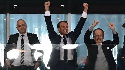 Macron congratulates French team on reaching World Cup final