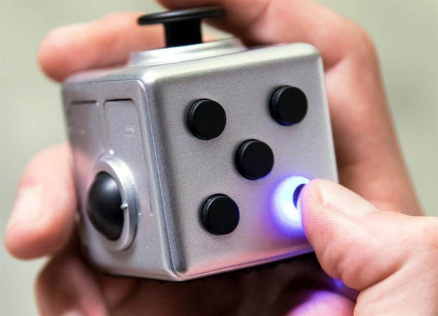 Masta Box is a Fidget Cube that's also a Bluetooth media controller and presentation aid