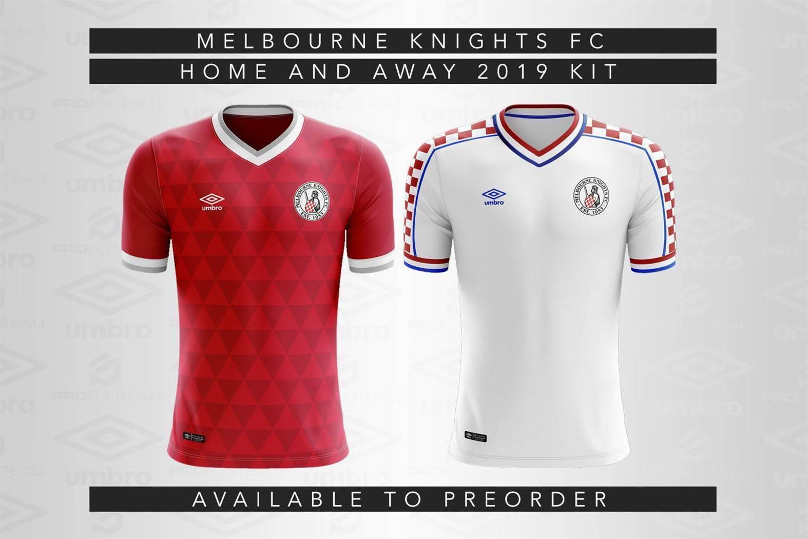 Melbourne Knights reveal 2019 jerseys