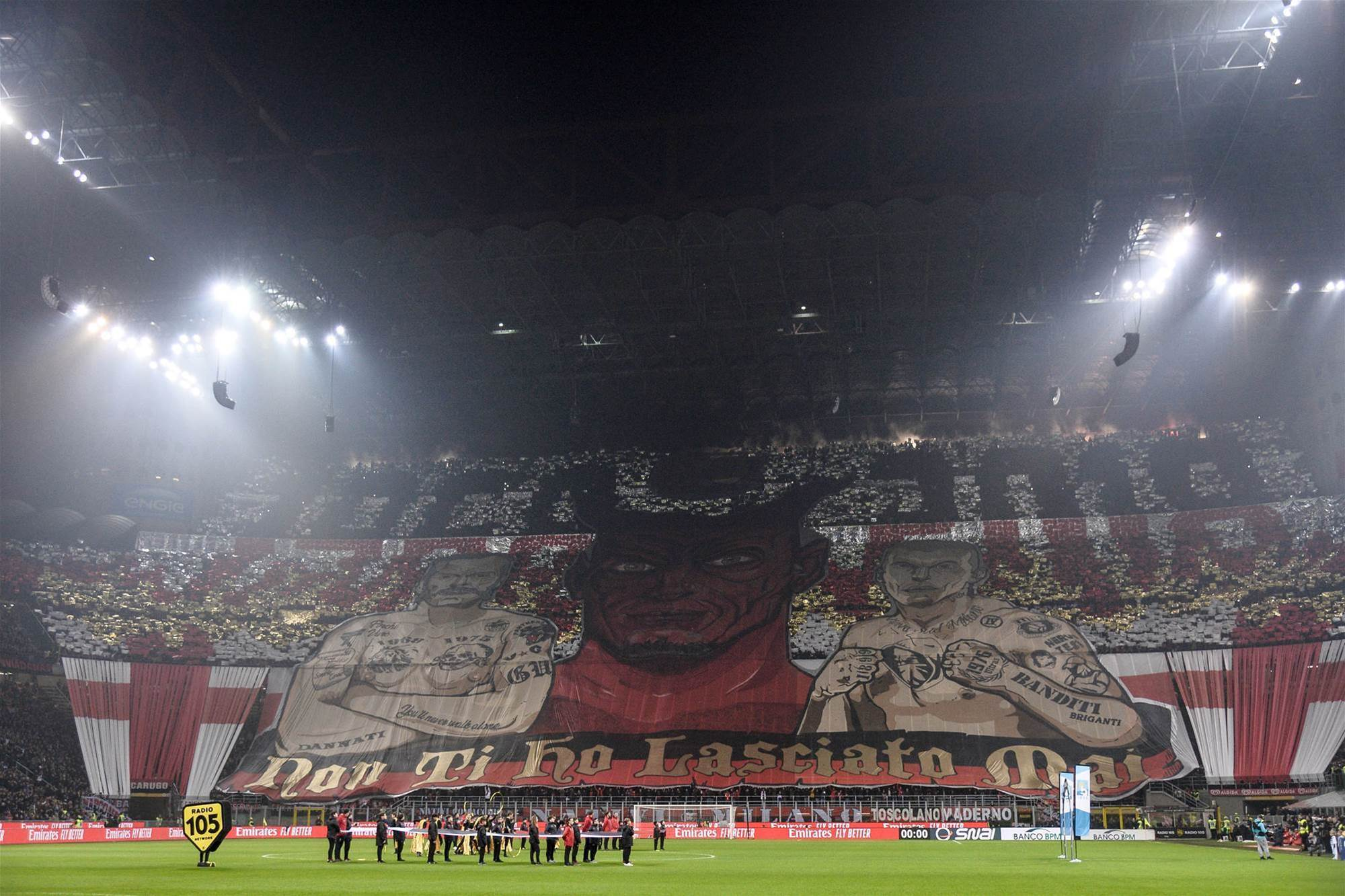 Milan supporters celebrate 50 years of first Italian ultras group