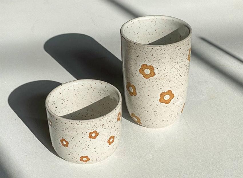 daisy cups from mimi ceramics