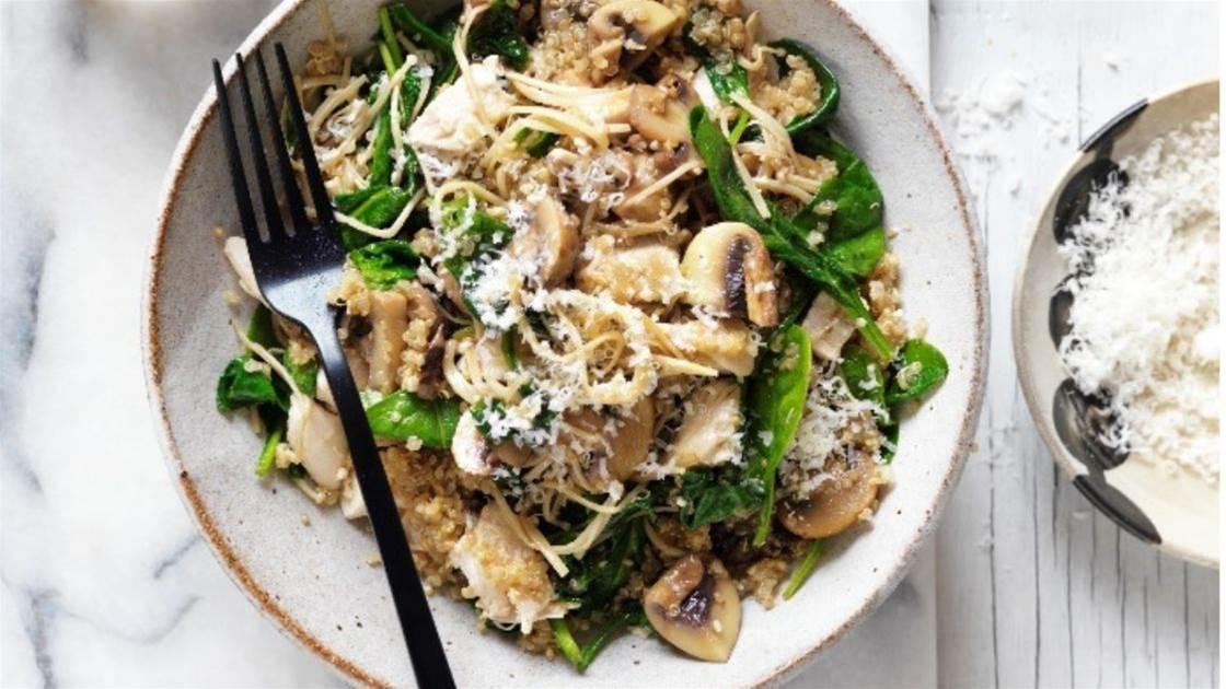 Faye James' Mushroom & chicken quinoa risotto