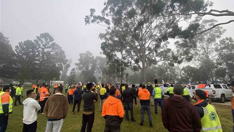 NBN subcontractors join nationwide protest