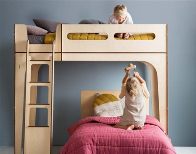 a sustainable loft bed for little ones