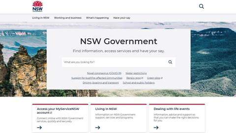 NSW offers first look at redesigned whole-of-govt website