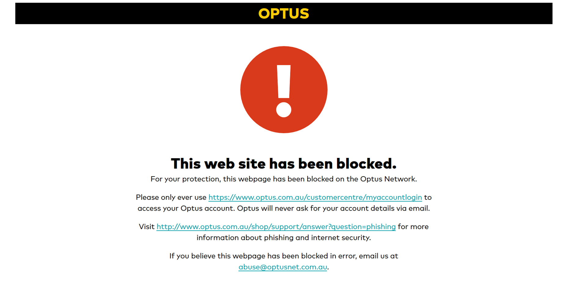 Optus accidentally blocks all bit.ly links