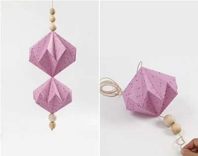 diy origami baubles