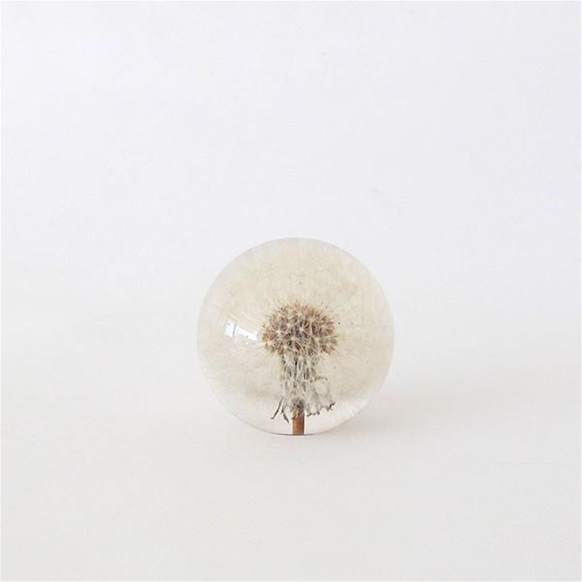 floral paperweights by garden objects