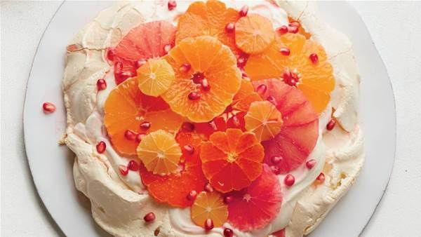 Citrus Pomegranate Pavlova Recipe