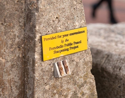 pencil sharpeners are popping up in odd places across edinburgh