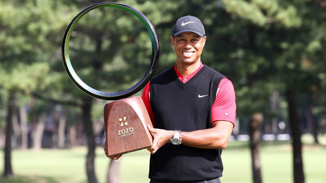 Woods wins record-tying 82nd PGA Tour title