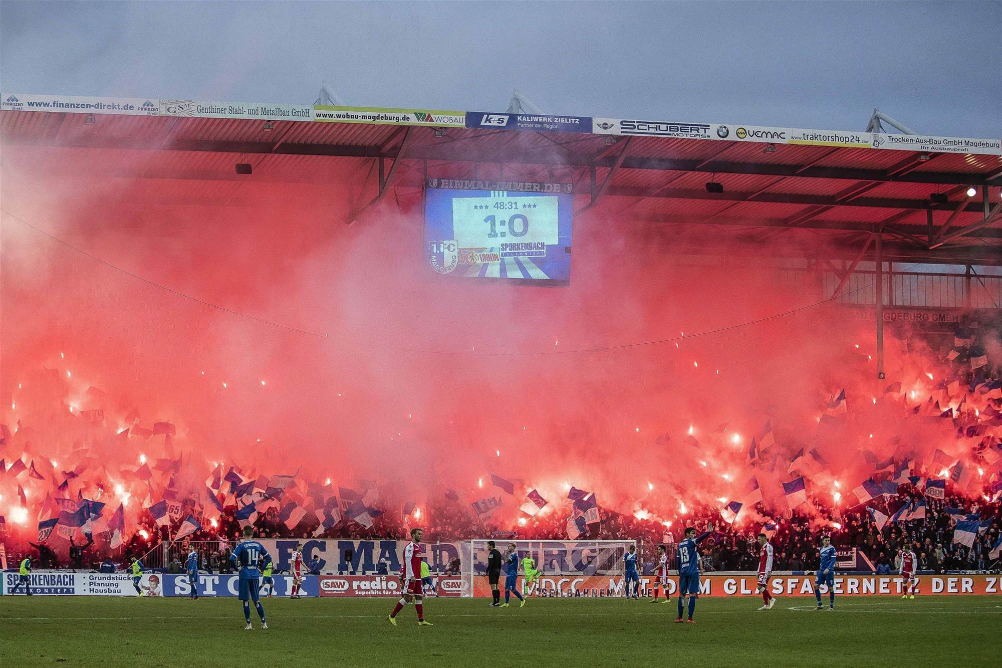 Watch! German side's pyro party