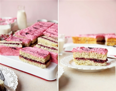snack on this raspberry, lemon and poppy seed cake