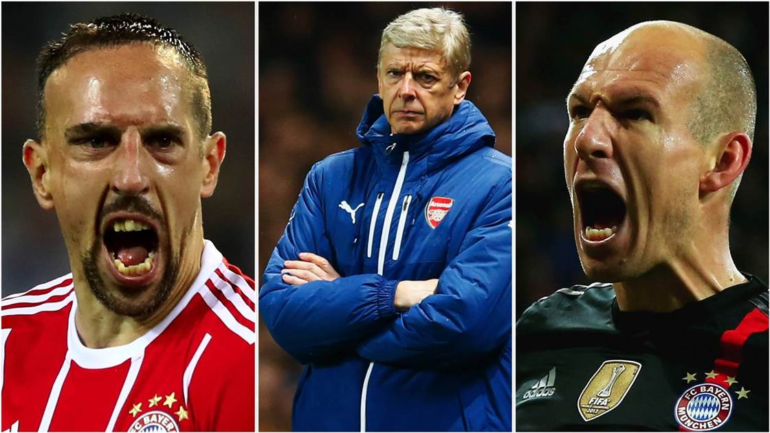 Ribery, Robben and Arsene ruled out 'months ago'
