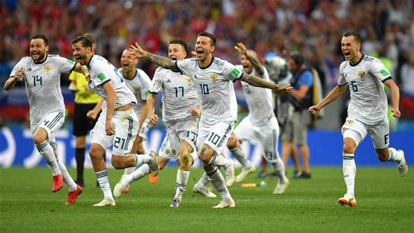 Russia into last eight after shootout win over Spain