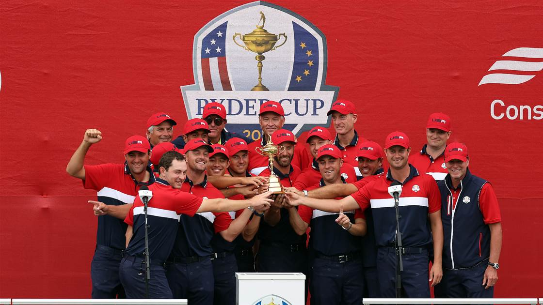 U.S. reclaim Ryder Cup in a rout over Europe
