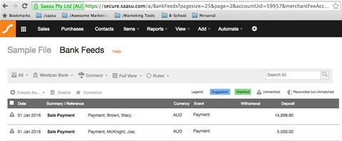 Saasu improves transaction matching for bank feeds