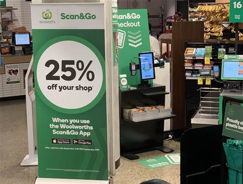 Woolworths offer 25 percent off groceries via Scan&Go app