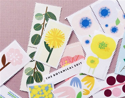 these decorative stamps are too pretty for the post