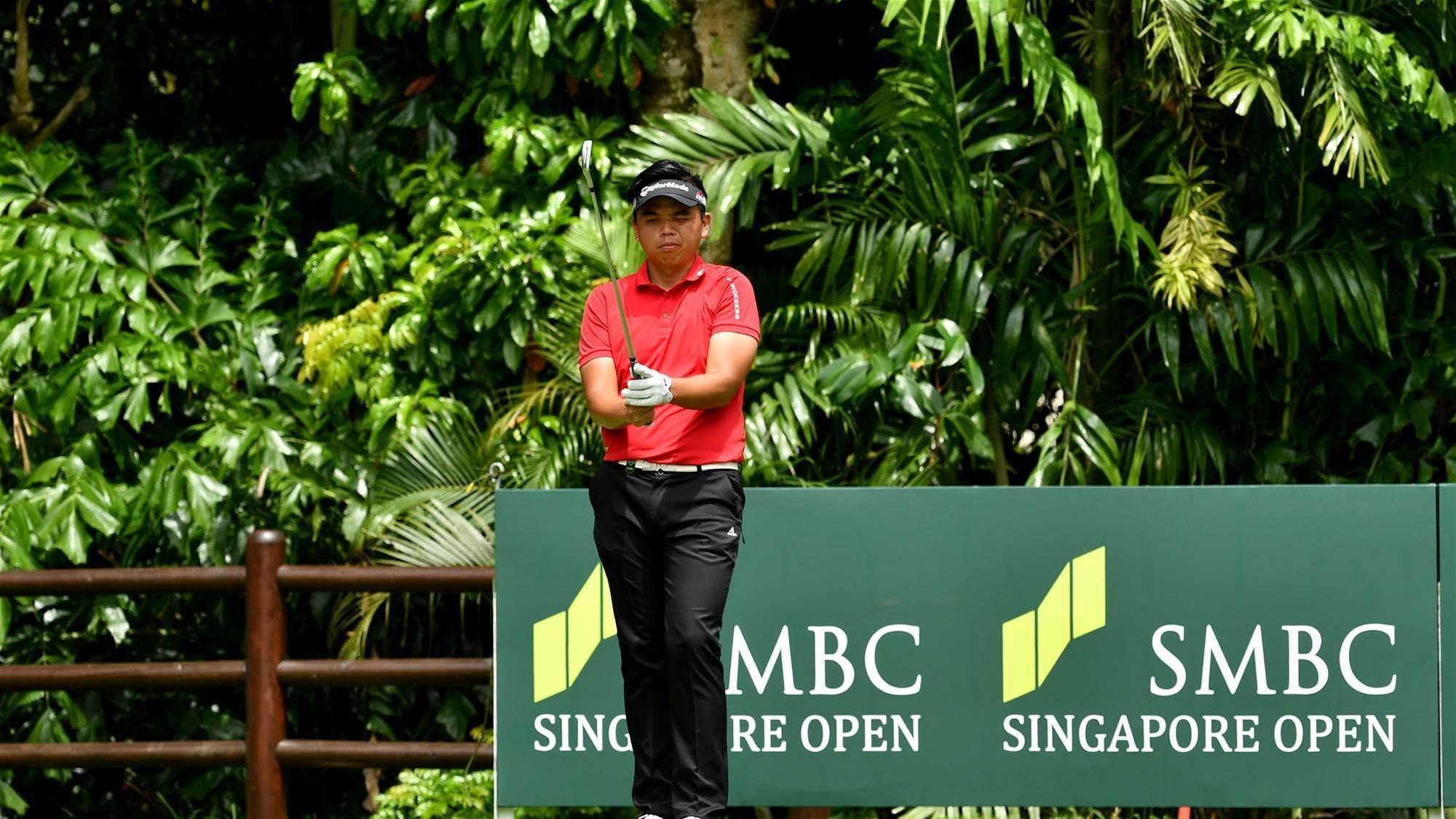ASIAN TOUR: Storms halt play at the Singapore Open