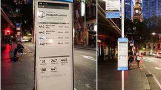 Real-time information comes to Sydney bus stops