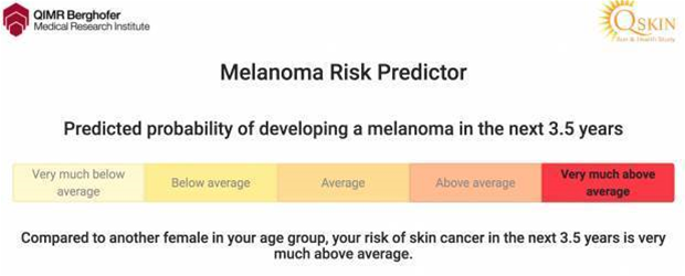 This online test claims to reveal your chances of getting skin cancer in the next 3.5 years