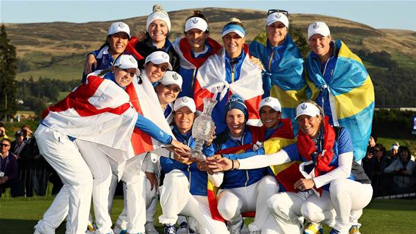 Pettersen putts Europe to Solheim Cup win
